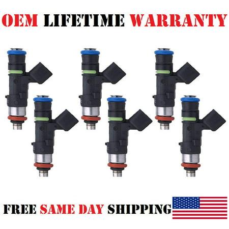 6x OEM #0280158028 Fuel Injectors for 2005-2010 Chrysler 300 2.7L 3.5L V6/Refurbished/ Chrysler Lebaron Fuel Injector
