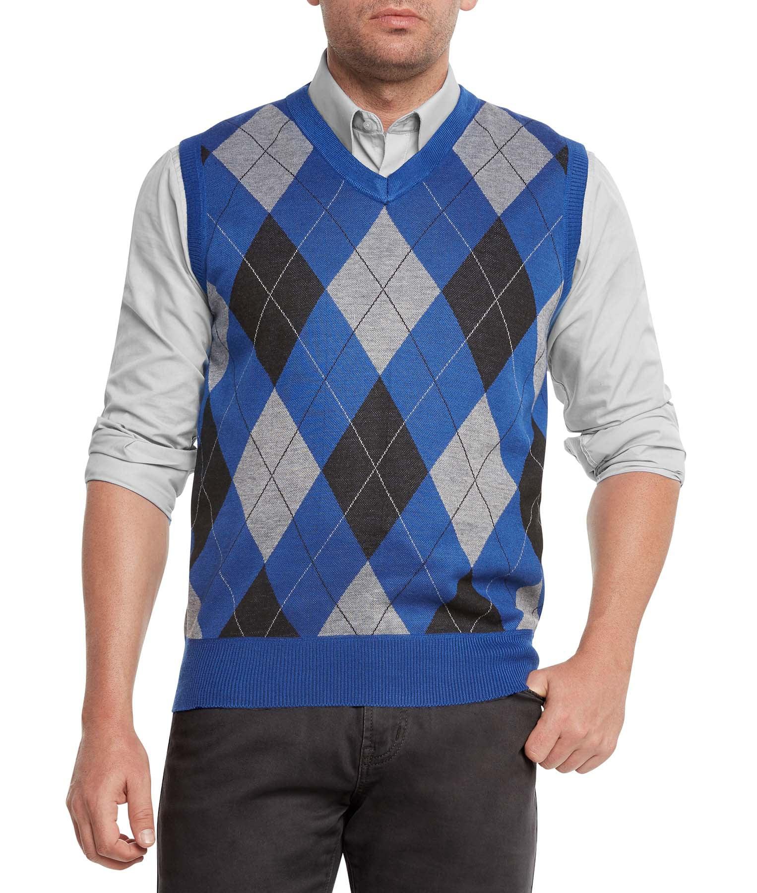 1ab422bc5 True Rock - True Rock Men s Athletic Cut Argyle V-Neck Sweater Vest ...