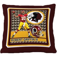 "Biggshots Washington Redskins Robert Griffin III 18"" Toss Pillow"