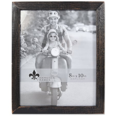 8x10 Charlotte Weathered Black Wood Picture Frame - Walmart.com