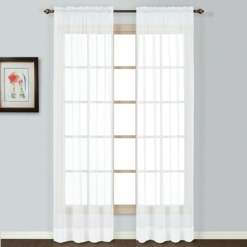 United Curtain Company Batiste Semi-Sheer Window Panel United Curtain Company Batiste Semi-Sheer Window Panel: 54-in x 54-in