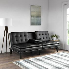 Fine Best Choice Products Modern Leather Reclining Futon Sofa Bed Couch Lounger Sleeper Furniture W Chrome Legs Black Creativecarmelina Interior Chair Design Creativecarmelinacom