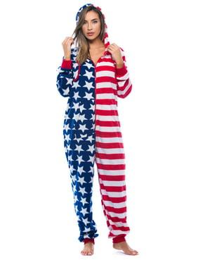 #FollowMe American Flag Adult Onesie / Pajamas