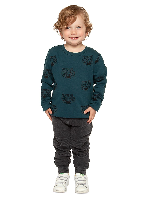Little Boy's Dino-Print Fleece Sweater