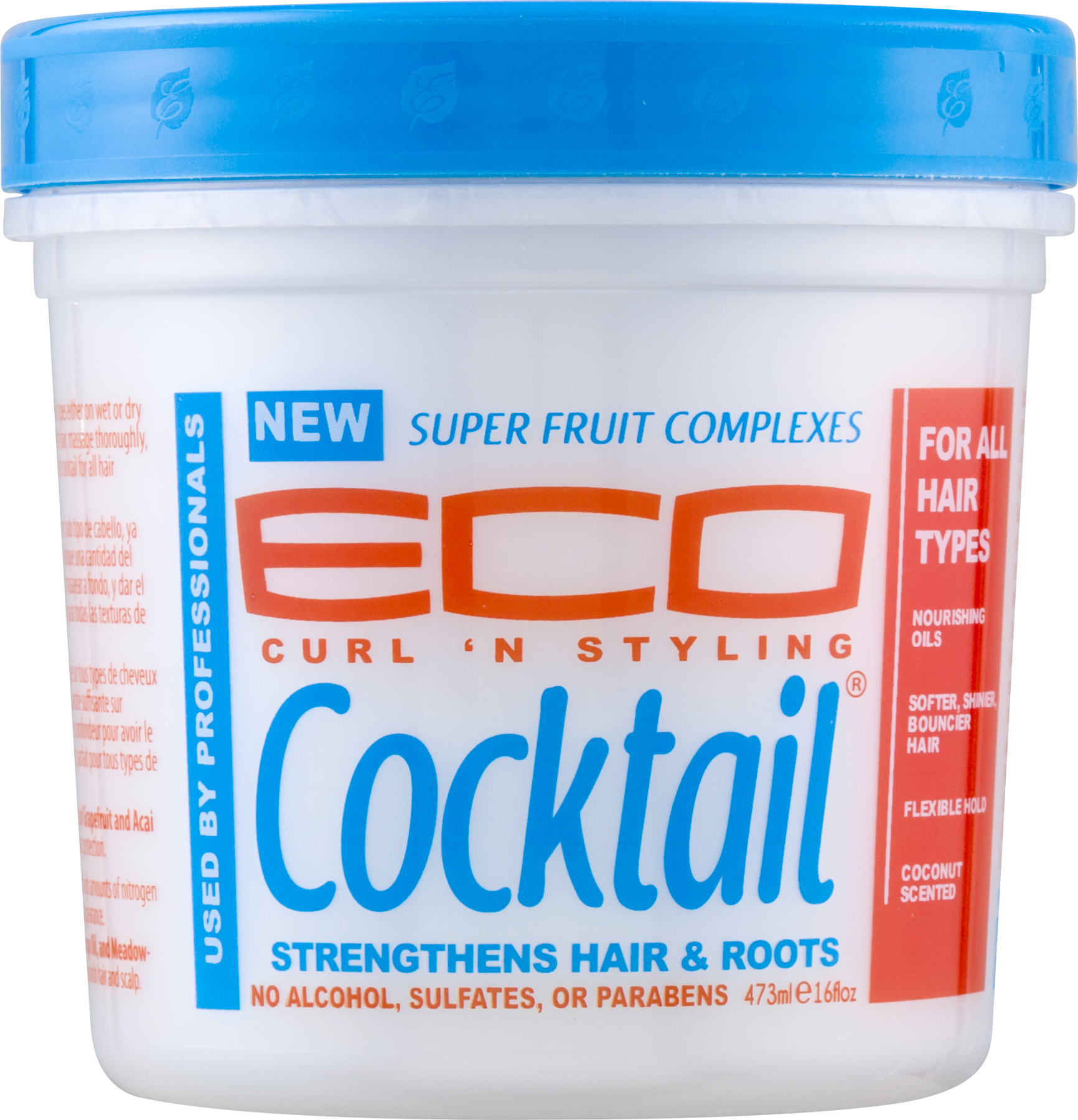 Eco Natural Cocktail Super Fruit Complex Hair Crème, Leave In Conditioner, 16 oz
