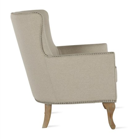 Dorel Living Reva Accent Chair In Beige Walmart Com