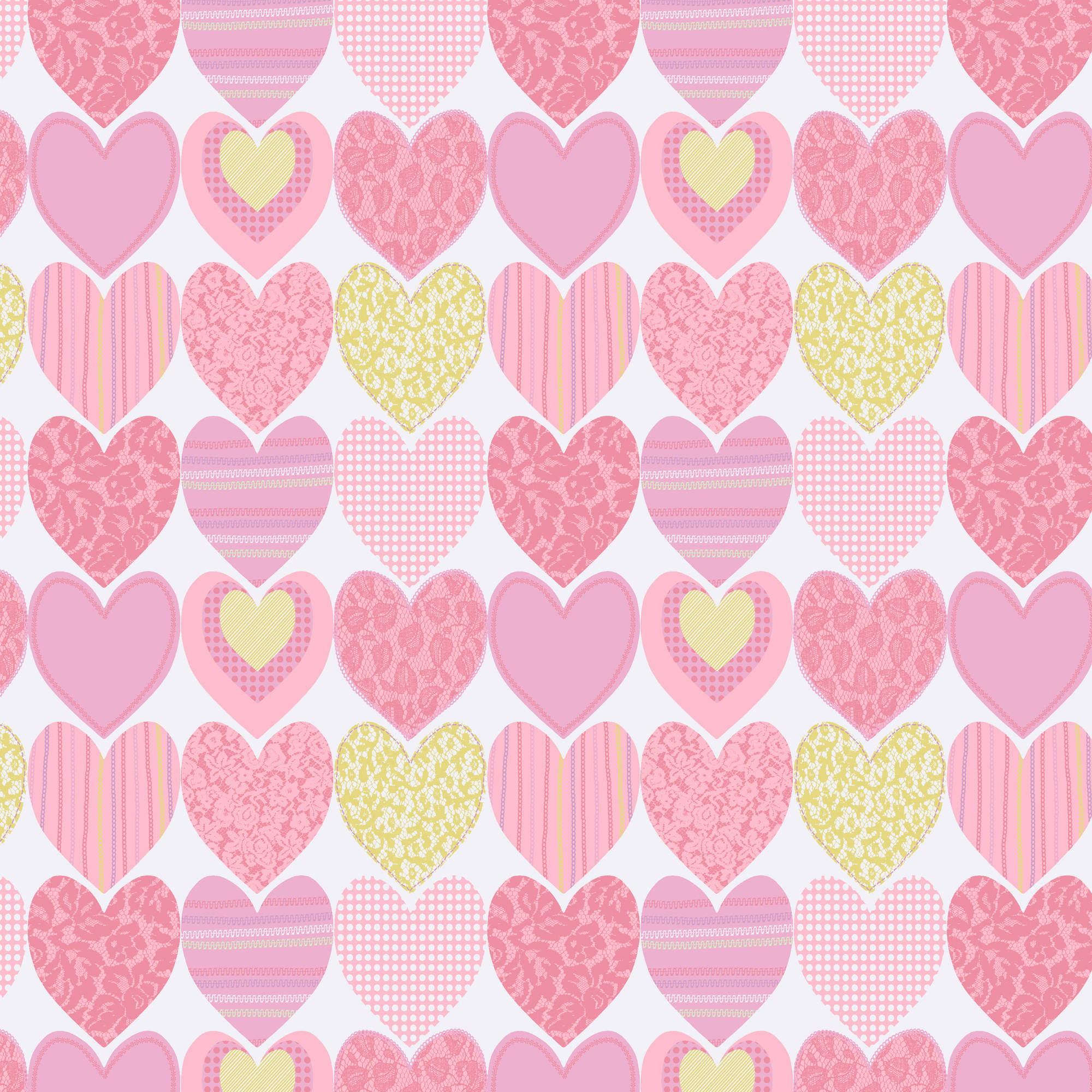 Waverly Inspirations Hearts Carnation 100% Cotton Print fabric, Quilting fabric, Home Decor ,44'', 140GSM