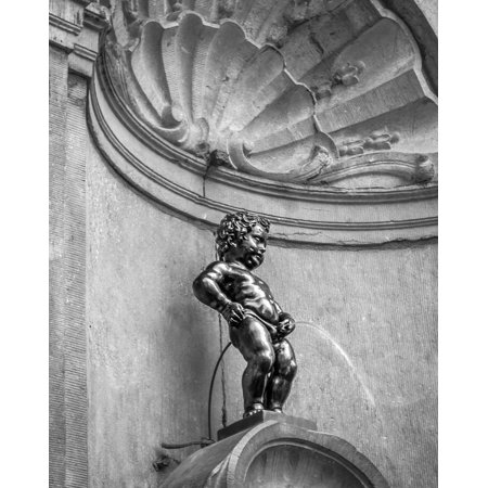 Framed Art For Your Wall Brussels Belgium Manneken Pis Belgium Attractions 10x13 Frame - P Is For