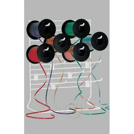 - Craft Embroidery Spools or Ribbon Dispenser Organizer Rack - 12 Hooks