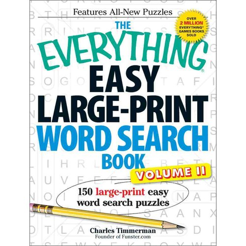 The Everything Easy Large-Print Word Search Book: 150 Large-Print Easy Word Search Puzzles