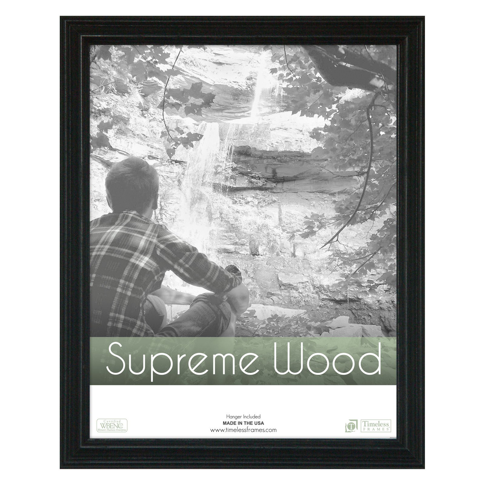 Supreme Woods Picture Frame - Black