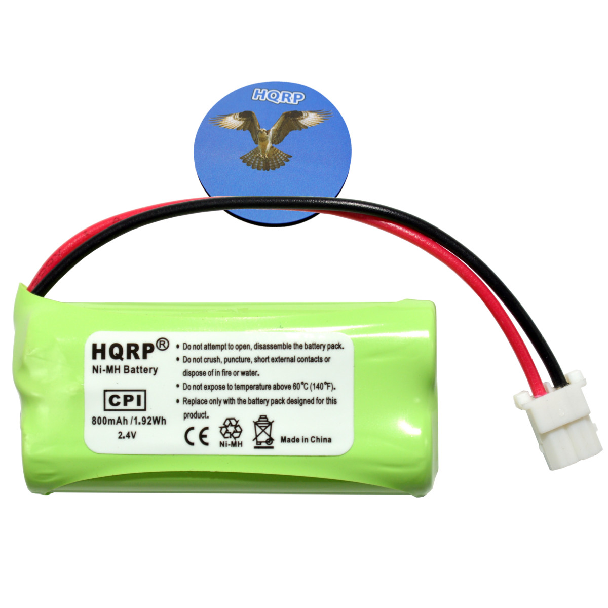 HQRP Phone Battery for AT&T LUCENT CL81201 CL81211 CL81301 CL82101 CL82201 Cordless Telephone + HQRP Coaster