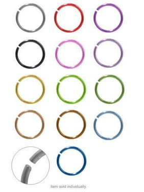 Anodized Titanium Nose Hoop Rings