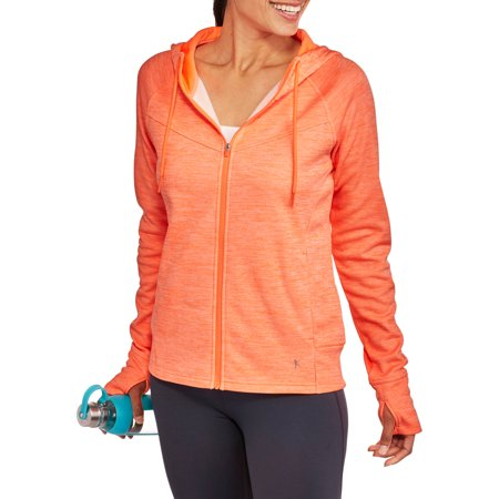 Danskin Now Women's Active Tech Fleece Full Zip Hoodie