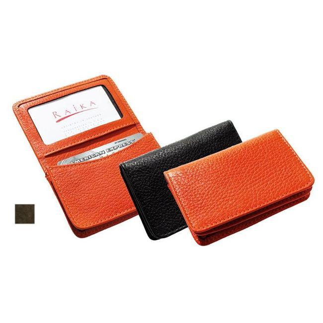 Raika VI 156 BROWN Gussetted Card Case - Brown