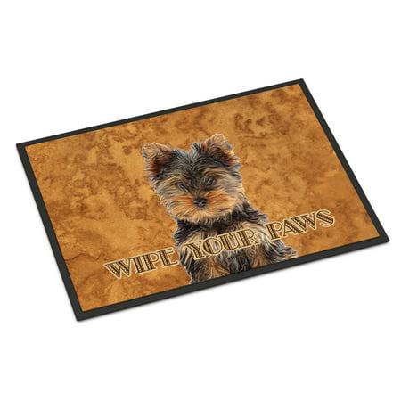 Yorkie Puppy / Yorkshire Terrier Wipe your Paws Door Mat ()