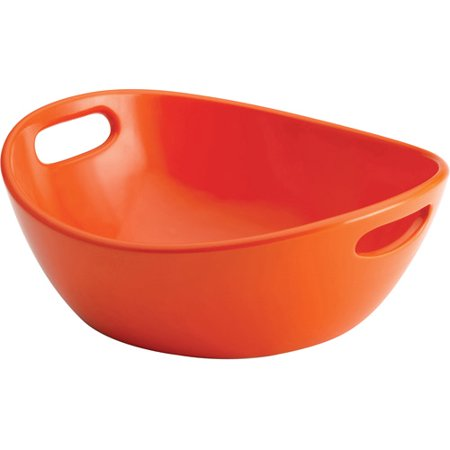 Rachael Ray Serveware 10 Round Stoneware Serving Bowl, Orange - Halloween Entertaining Serveware