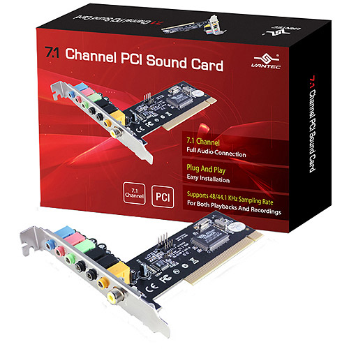 VANTEC 7.1 CHANNEL PCI SOUND CARD