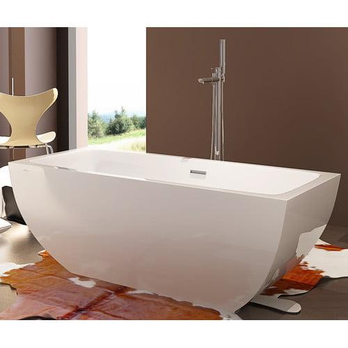 Kardiel HelixBath Velia 59'' x 29.5'' Soaking Bathtub