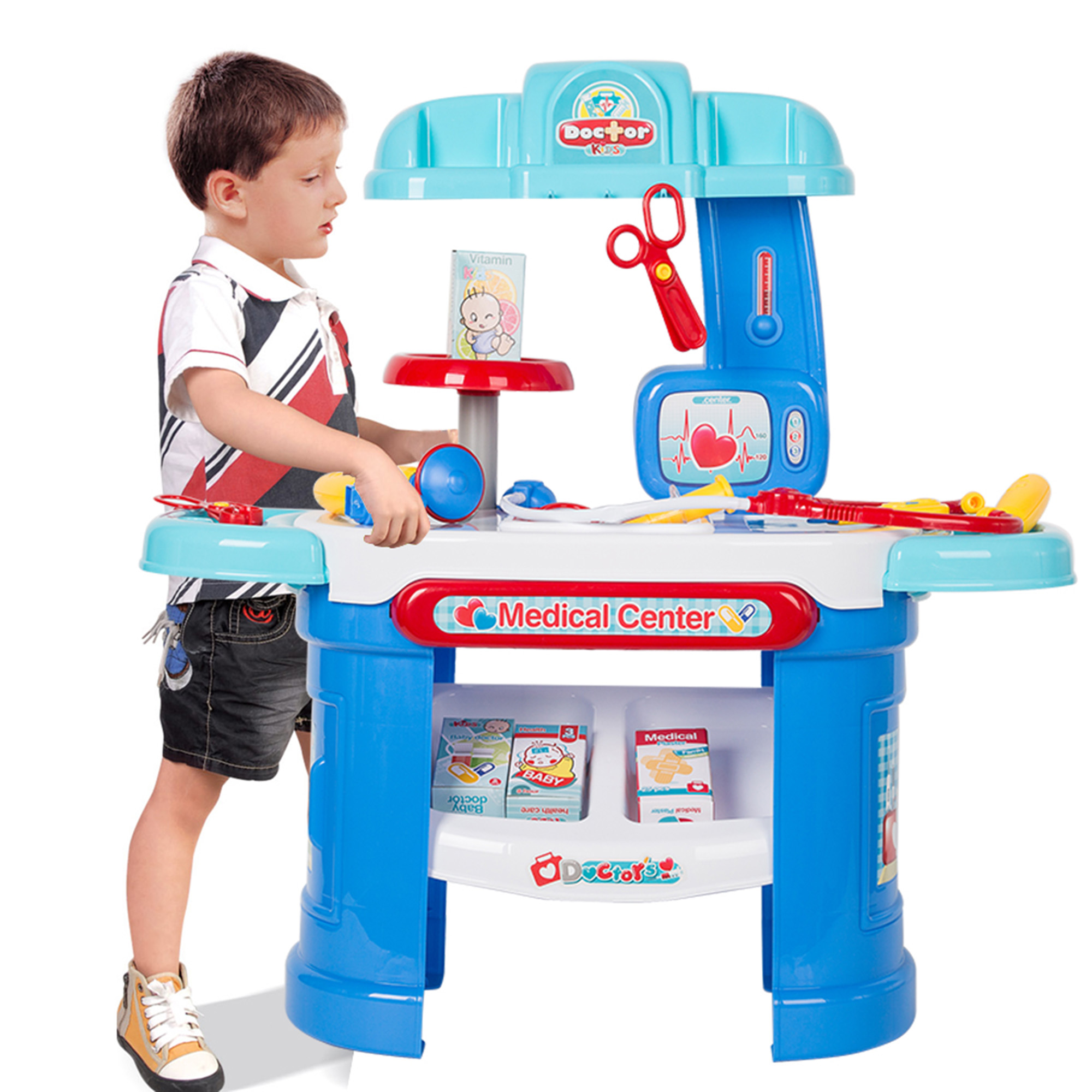 KARMAS PRODUCT Children Pretend Medical Toy Tools Doctor Kit Dentist Playset