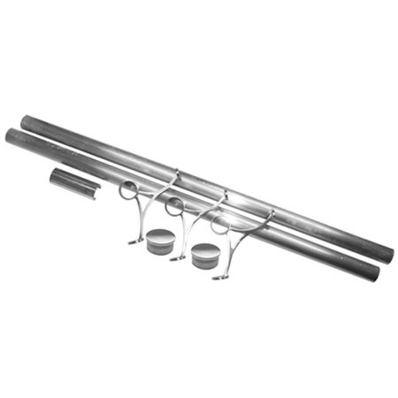 Lavi L44 Fr1008 2 Foot Rail Kit 2 In. Tube 8Ft. - Satin Stainless Steel (Head Foot Rails)