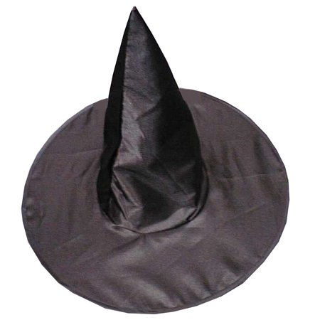Witches Painted Faces For Halloween (Deluxe Satin Witch Hat Adult Halloween)