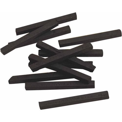Square Compressed Charcoal, Box of 12