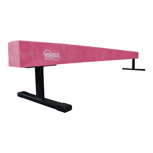 8ft Long 12in High Pink Balance Beam by Nimble Sports