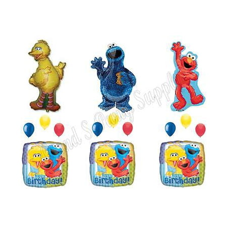 Cookie Monster Big Bird Elmo Birthday Party Balloons Decoration