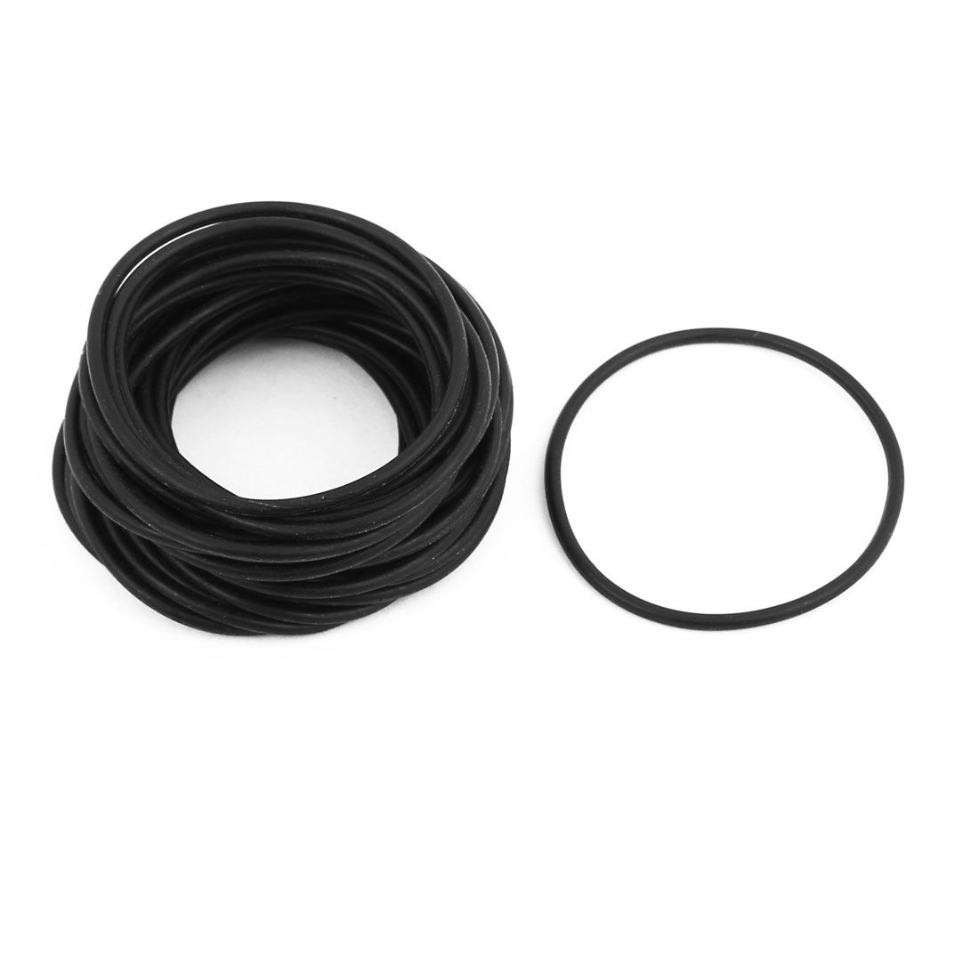 30pcs 45mm X 19mm Rubber O Rings Nbr Heat Resistant Sealing Ring Wiring Grommets Black