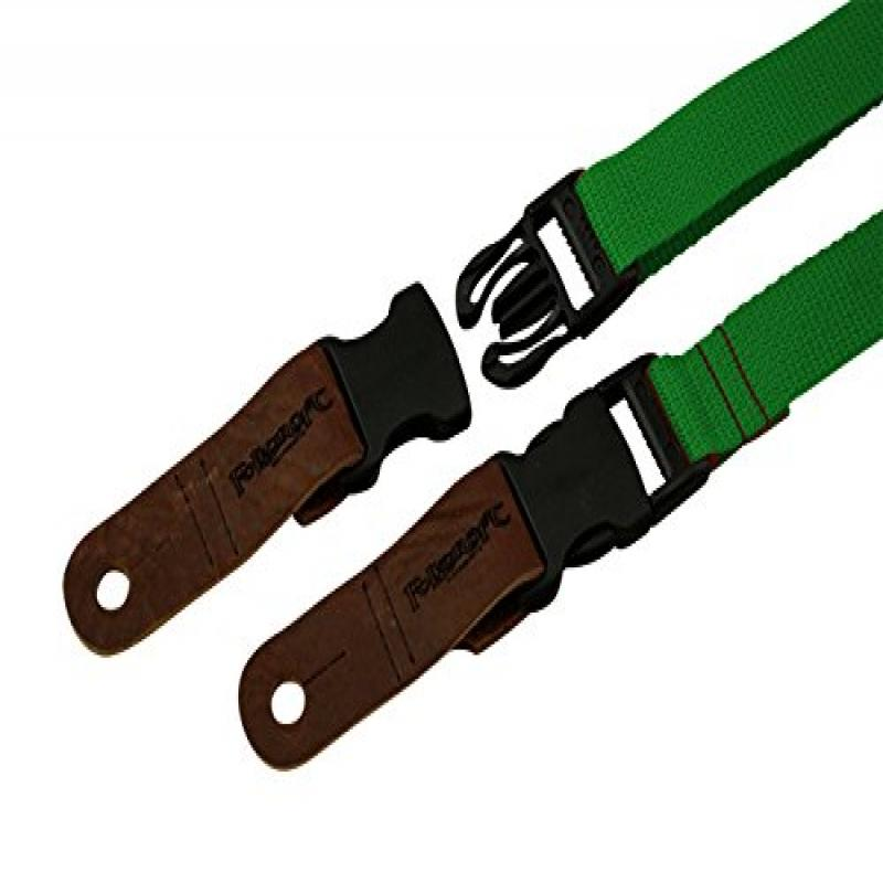 "Quick Release 1"" Wide Dulcimer Ukulele Strap, Green by"