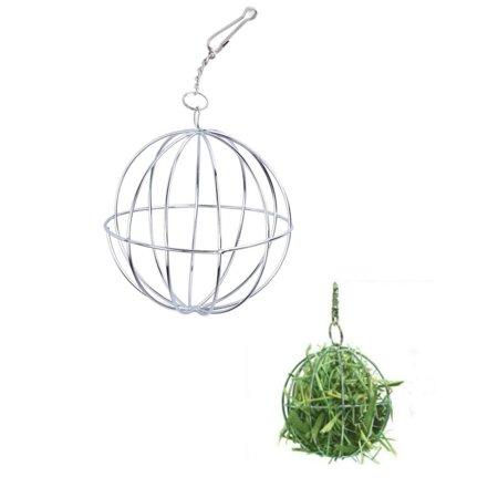 Lavaport Rabbit Stainless Steel Feed Sphere Ball Hamster Rat Dispenser Play Toy (Hamster Play Ball)