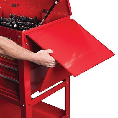 Fold Up Down Side Tray Work Shelf for Mechanics Mobile Tool Box Rollaway Storage by