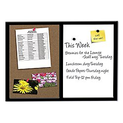 Combo Board (FORAY™ Magnetic Combo Board With Black Wood Frame, 24