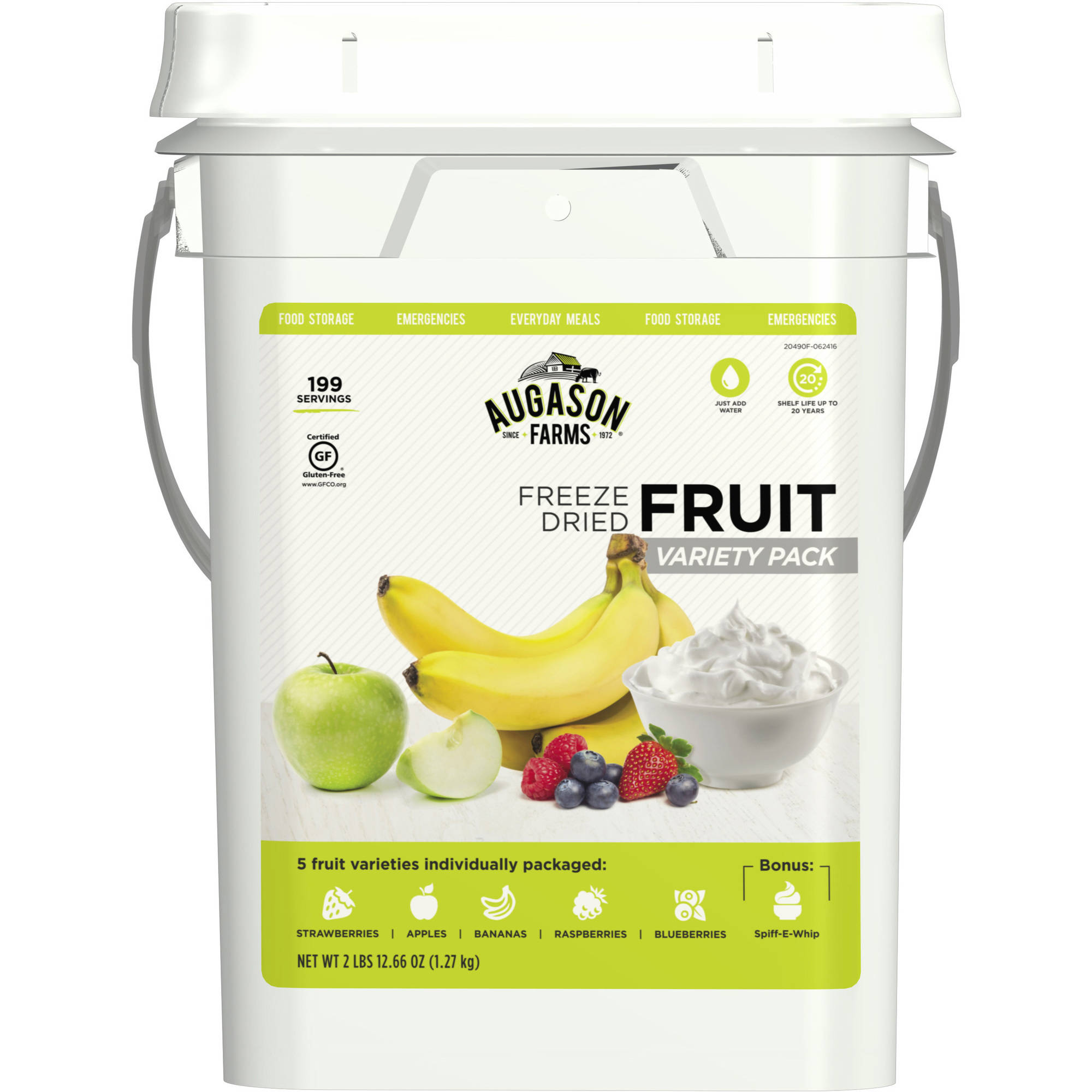 Augason Farms Freeze Dried Fruit Variety Pack, 44.66 oz by Blue Chip Group