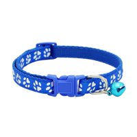 Personalized Adjustable Dog Collar With Bell for Dogs Cats Puppy Necklace