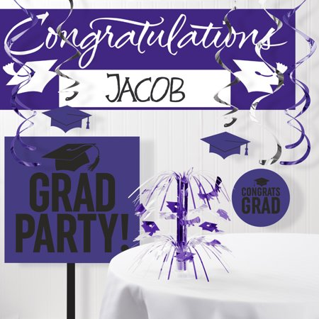 Purple Graduation School Spirit Decoration Kit ()