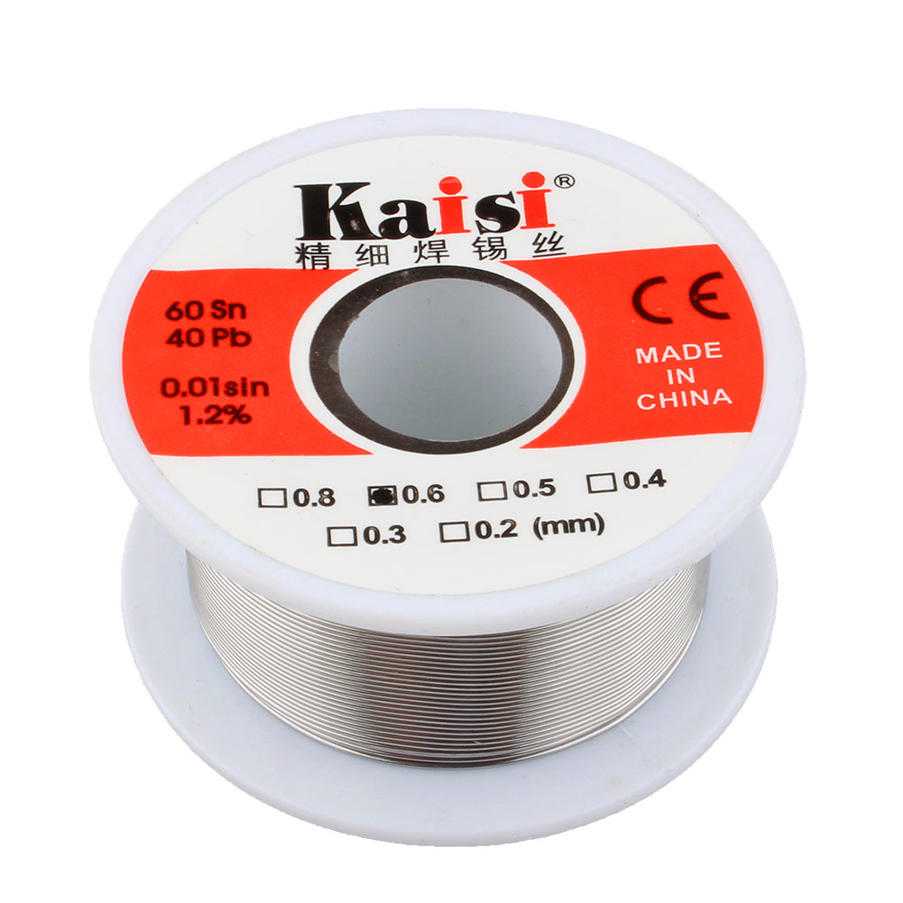 0.6mm 50G 65ft 60/40 Rosin Core Flux 1.2% Tin Lead Roll Soldering Solder Wire