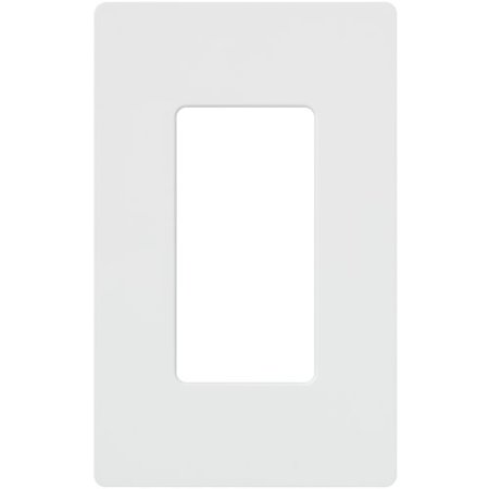 Lutron CW-1-WH 1 Gang Screwless Claro Decora Rocker Wall Plate White