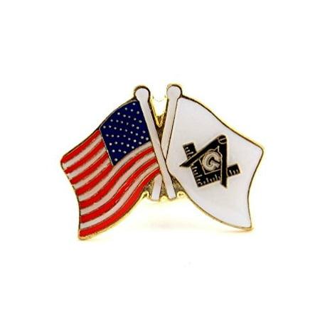 Wholesale Lot Of 12 USA Flag & Mason Flag Masonic Freemason Shriners Lapel  Hat Pin PPM644