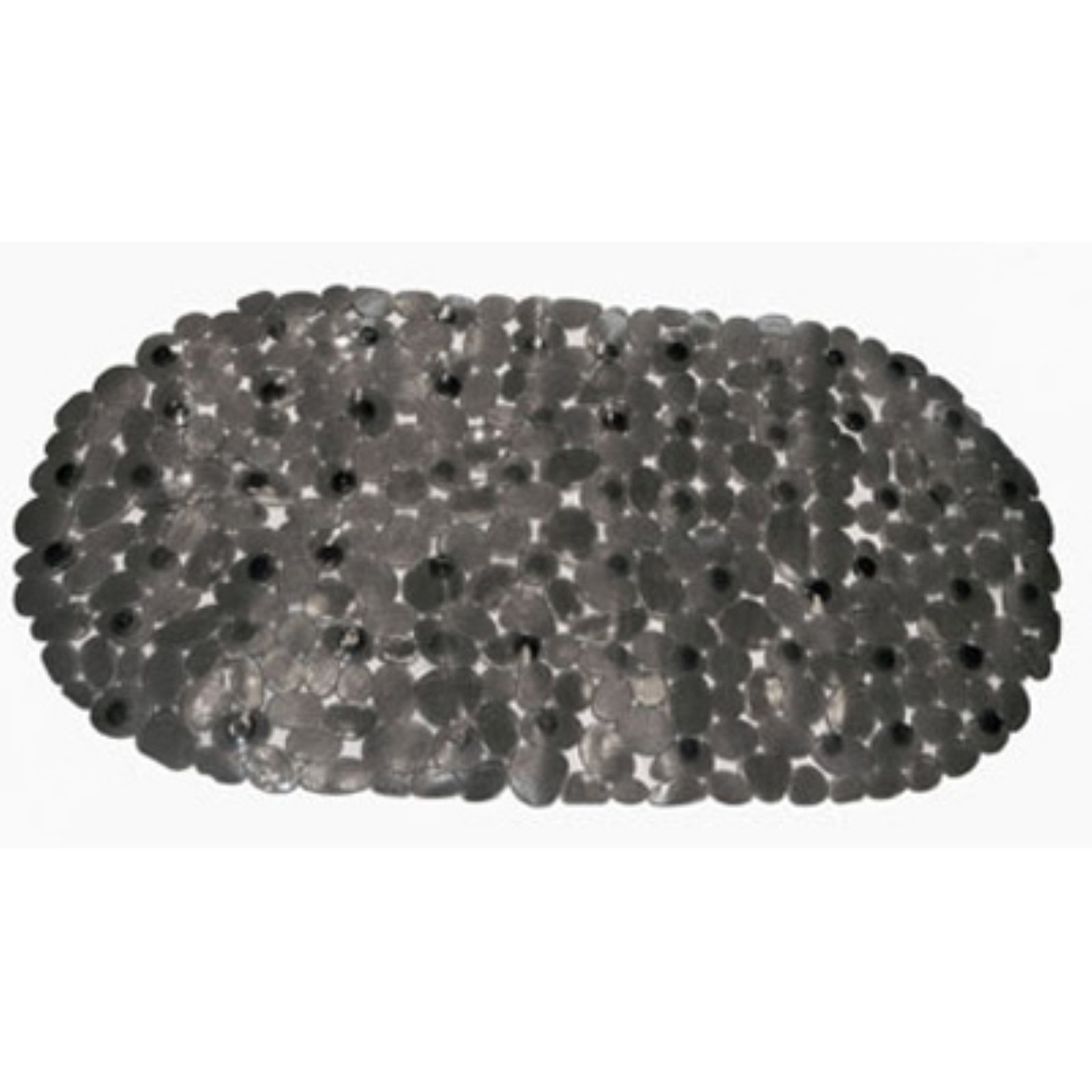 """Pebbles"" Vinyl, Slip-Resistant Bath Tub Mat in Black"