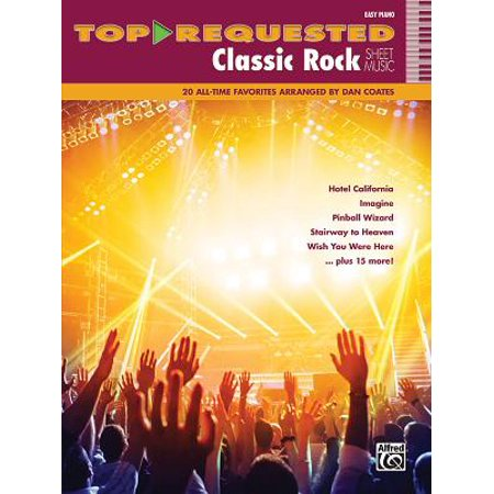 Easy Piano Lyrics - Top-Requested Classic Rock Sheet Music : 20 All-Time Favorites (Easy Piano)