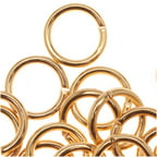 22K Gold Plated Open 7mm Jump Rings 18 Gauge (50)