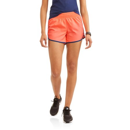 Athletic Works Womens Core Active Dolphin Hem Woven Running Shorts With Hidden Liner