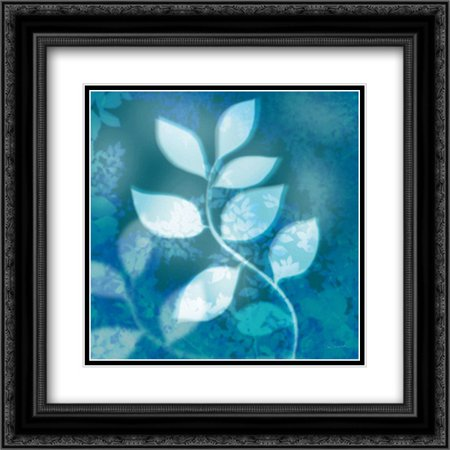 - Ink Leaves II 2x Matted 20x20 Black Ornate Framed Art Print by Schlabach, Sue