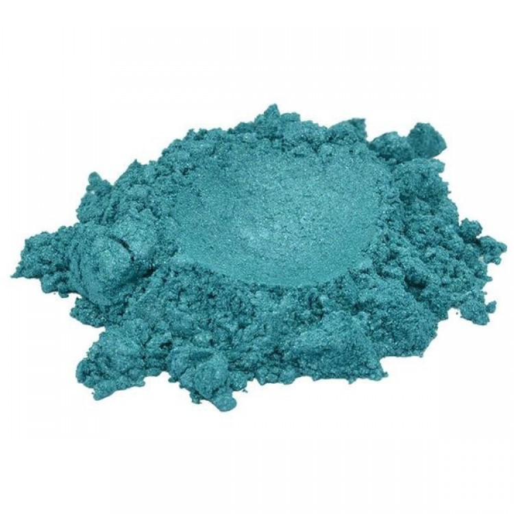 CORAL REEF BLUE TURQUOISE MICA COLORANT PIGMENT POWDER COSMETIC GRADE 1 OZ