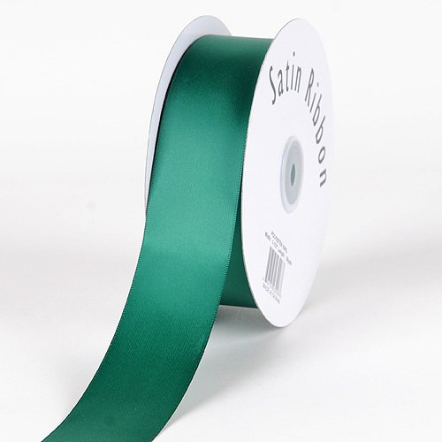 BBCrafts 7/8 inch x 100 Yards Single Face Satin Ribbon Decoration Wedding Party (Forest Green), Ship in 1 Business Day. By Generic