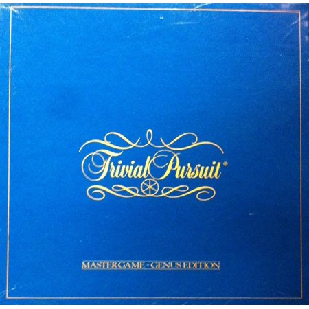 Trivial Pursuit Master Game Genus Edition The Original Edition