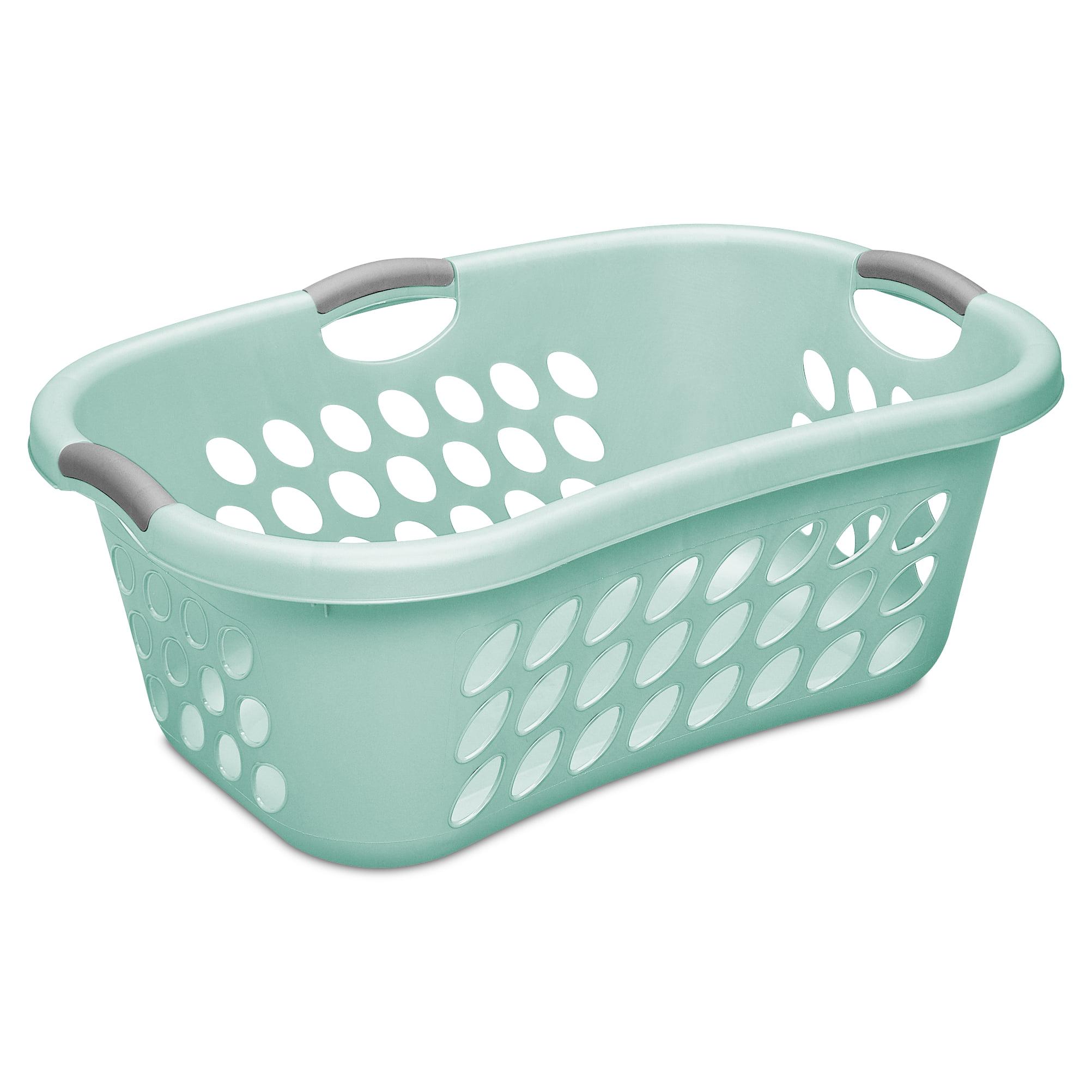 Sterilite 1.25 Bushel Hip Laundry Basket, Aqua Chrome (Available in ...