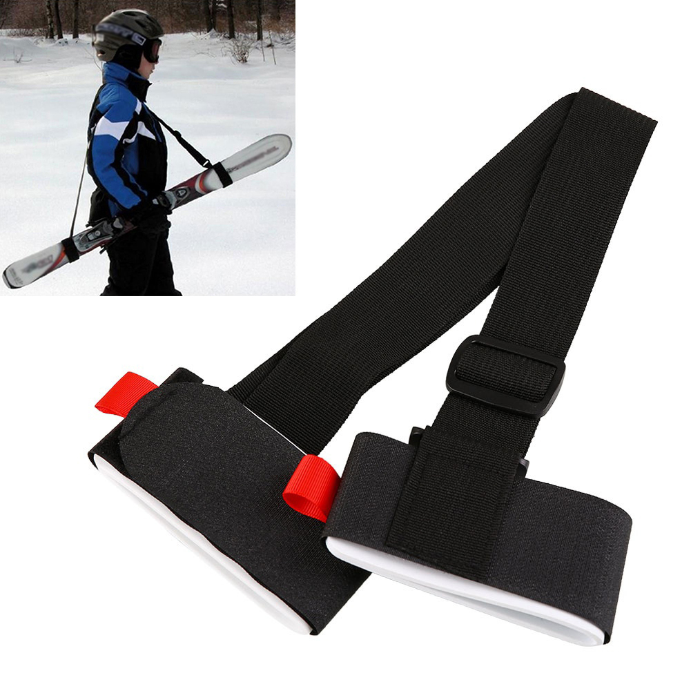 HiCoup Adjustable Snowboard Cross Country Ski Pole Shoulder Hand Carrier Handle Strap by
